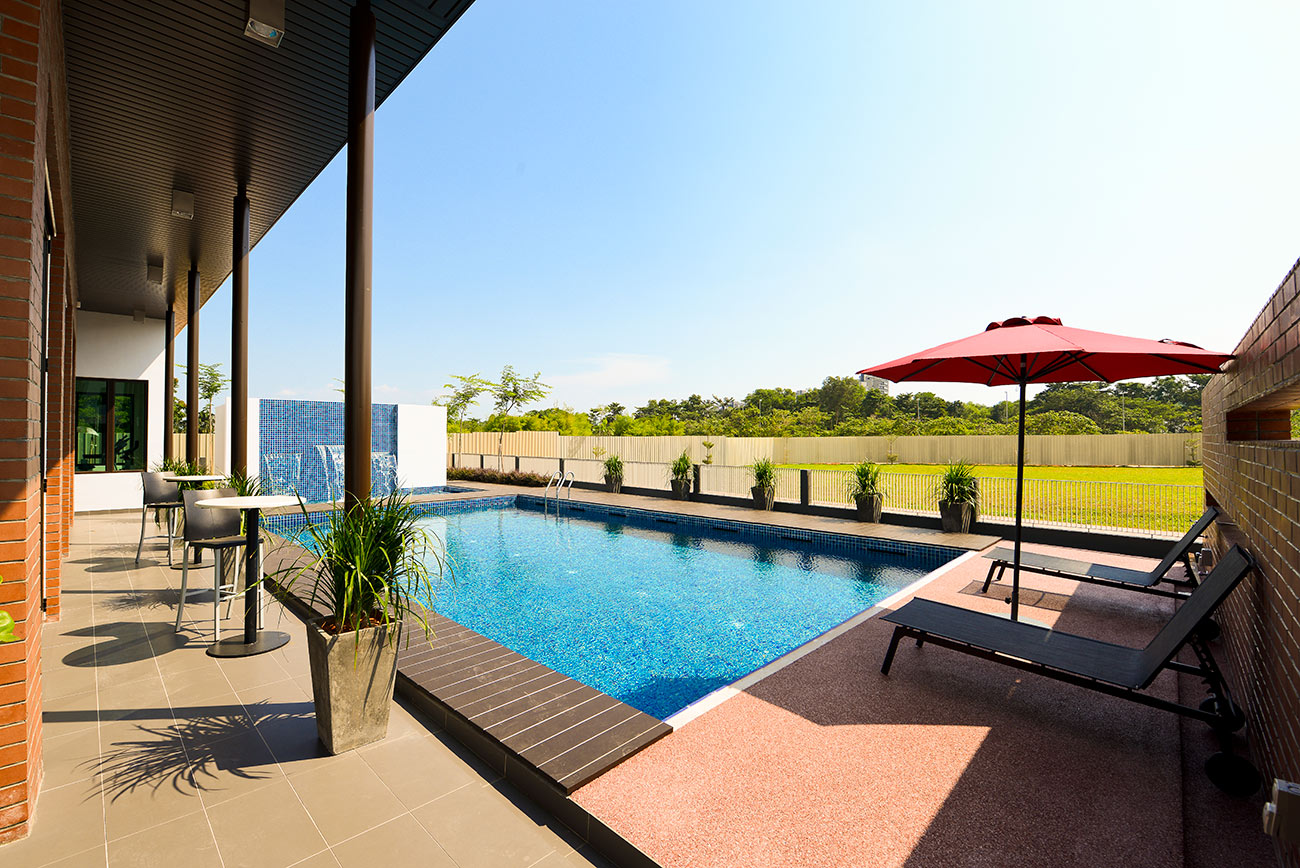 Opus clubhouse pool area