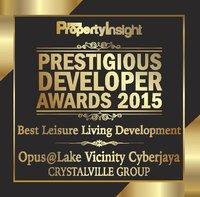 CrystalVille Opus @ Lake Vicinity Cyberjaya - Prestigous Developer Awards 2015