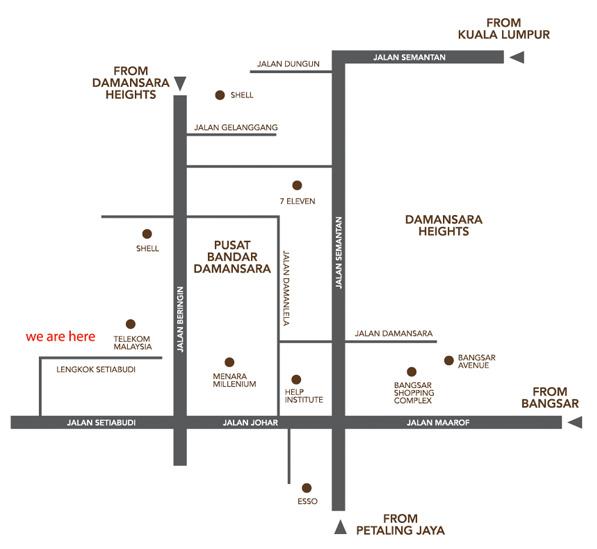 Map -Designer luxury bungalows - Damansara Heights