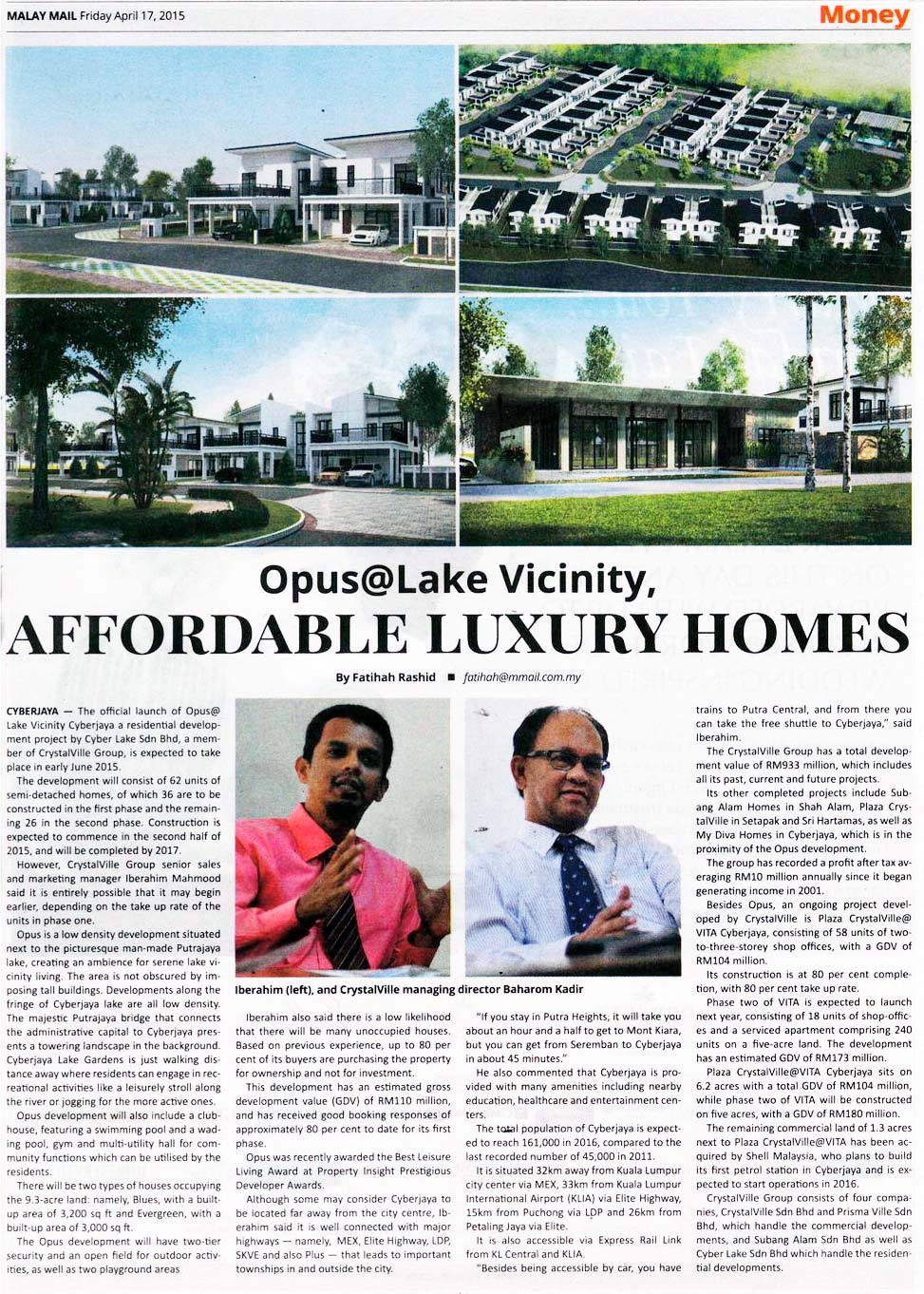 Opus Lake Vicinity - affordable luxury homes
